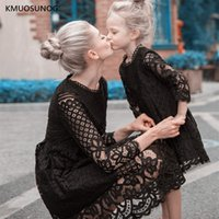 Wholesale mom daughter dress lace for sale - Group buy New Mother Daughter Dresses Wedding Autumn Mommy and Me Clothes Mom and Daughter Lace Princess Dress Family Wedding Dresss C0248MX190919