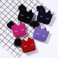 güzel kozmetik çantaları toptan satış-Moda Kadınlar Makyaj Çantası Sevimli Karikatür Kedi Makyaj Çantası Güzel Kız Kozmetik Saklama Çantası Çanta Seyahat F2265