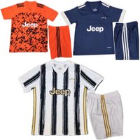 Wholesale 2020 Kids kits DYBALA soccer jersey Sets home away BUFFON Football uniform DE LIGT Camiseta foot suit