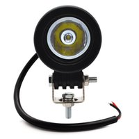 Wholesale round tractor lights resale online - Safego inch w led work light v lamp round led driving lights motorcycle fog lights off road X4 SUV truck tractor boat v