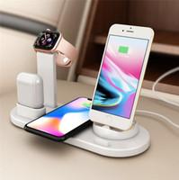 kaliteli araba şarj cihazı limanı toptan satış-3 in 1 Kablosuz Şarj Standı İstasyonu Kablosuz Şarj Dock iPhone apple İzle Airpods Cep Telefonu Şarj için