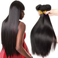 12 inç brazillian kıvırcık saç toptan satış-8A Vizon Brazillian Düz Vücut Gevşek Derin Dalga Sapıkça Kıvırcık Işlenmemiş Brezilyalı Perulu Hint İnsan Saç Dokuma Paketler