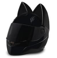 Wholesale motorcycle helmet seasons resale online - 2018 Motorcycle Helmet Cat Ear personality full hair helmet Four Seasons sunscreen full covered