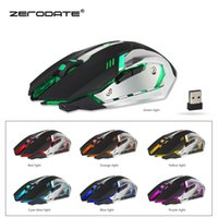 Wholesale Top sell Brand new Promotion USB Wireless Computer Gaming Mouse DPI Colorful Backlight Optical Ergonomic Mouse Gamer Rechargeable u400