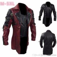Homme Stand col en cuir Manteau veste moto Zipper manches longues casual date
