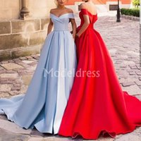 Wholesale special occasion dresses for sale - Elegant s Evening Dresses Off Shoulder Backless Sweep Train Retro Special Occasion Dress Plus Size Formal Party Prom Gowns Custom