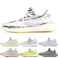 Wholesale winter cycling shoes online - With Box V2 Static Butter F36980 Blue Tint Beluga Zebra Cream White Running Shoes Mens Womens Designer Sneakers