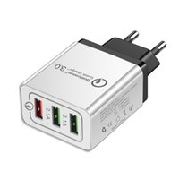 Wholesale usb wall charger multi for sale - QC Wall Charger Ports Travel Adapter Quick Charge Multi USB Phone Adapters EU US Portable Fast Charging For Smartphone
