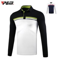 outdoor sportbekleidung groihandel-Mens Breathable Golf Langarm-T-Shirt Mann Outdoor Sports Warm Tops Winter Herbst Weicher Stehkragen Golf-Kleid D0835
