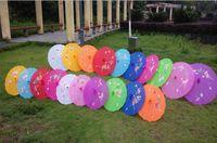 adereços para decoração de casamentos venda por atacado-Japonês Chinês Oriental Parasol Adereços De Casamento tecido Guarda-chuva Para Festa Fotografia Decoração guarda-chuva doces cores em branco DIY personalizar