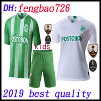 Wholesale colombia uniforms for sale - Group buy kids kit thailand Atletico Nacional Medellin Soccer Jersey Colombia Club Medellin Home away Football Sports Uniform Football Shirt