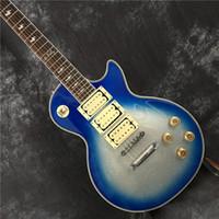 Wholesale pink blue guitars for sale - Group buy Custom Shop LP standard custom electric guitar pickup mahogany body silver pink blue