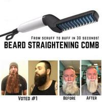 peines de hombres al por mayor-Los hombres Alisador rápido de la barba Styler Peine Multifuncional Rizador de cabello Curler Show Cap Tool Creativo Favor de partido