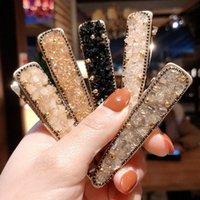 perle d'or cheveux achat en gros de-Femmes perle brillante pince à cheveux d'or en épingle à cheveux chapellerie pour les femmes glisser des poignées Barrette épingle à cheveux Accessoires cheveux pour les filles
