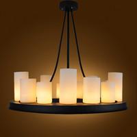 velas de luminária venda por atacado-ferro de vidro moderna luminária do vintage LED vela candelabro Kevin Reilly luz pendant Altar luz suspensão de metal retro