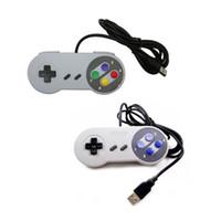 snes joystick-controller großhandel-USB-Anschluss Gamecontroller Gamepad Switch Controller Kabelgebundener USB-SNES-Controller Retro Gaming Joypad Joystick Gamepad Für Switch