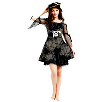 Wholesale pirate costumes women for sale – halloween Adults Women Pirate Costume Captain Pirates Cosplay Costumes Christmas Halloween Masquerade Party Dress Decoration