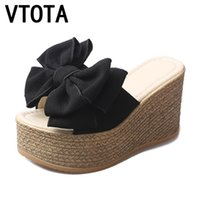 8f3f97fb5 Wholesale butterfly flip flops online - VTOTA Women Slippers Fashion Pee  Toe Summer Shoes Butterfly knot