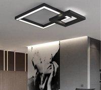 barra de teto preto venda por atacado-Iluminação interior moderna luz de teto sala de jantar LEVOU lâmpada do farol bar quartos Sala de estar lustre RGB cor preto branco LLFA