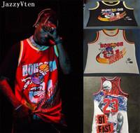 chemise chemise achat en gros de-Travis Scott X BR X MN 01 01 Jack Report maillot de basketball hommes hiphop street jerseys shirts