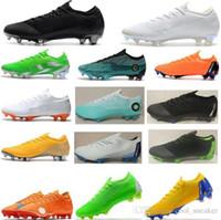 futbol ayakkabıları kızlar toptan satış-Nike Erkek Kadın Kız Mercurial Superfly VI 360 Elite Ronaldo FG ACC Futbol Ayakkabı Chaussures Erkek Futbol Çizmeler Çocuk Neymar Futbol Cleats