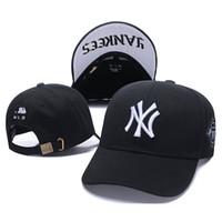 ingrosso cappello bianco a picco-2019 Cappelli per uomo e donna Snapbacks Cappello da baseball Uomo e NY Cappellino con visiera Ricamo Yankees Cappelli Bianco Autunno e inverno Marea Marchio