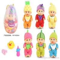 ingrosso set di bambole in silicone-Bambola in silicone 29CM Simulazione Baby Vocal Play House Doll Toy Gift Box Set Regalo di Natale Giocattoli per bambini