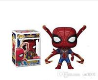 виниловый паук оптовых-Funko Pop Avengers 3 Spider Man Виниловые фигурки игрушек Коллекционная модель игрушки для детей