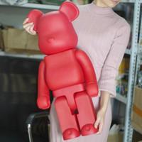 renkli diy boyama toptan satış-Sınırlı Sürüm% 1000 bearbrick ayı @ tuğla 70cm DIY Boya PVC Action Figure KIRMIZI Renk ile Opp Çanta