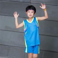 mayo harf toptan satış-Basketbol Erkek Jersey Öğrenci Hareket Maç Eğitim Basketbol Giyim Jersey Yelek Lettering Suit Serve