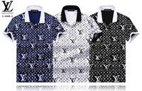 apoyo para la ropa al por mayor-Ocio por encargo que hace punto la manga corta de POLO de la solapa de la manga masculina de la camiseta que apoya pequeña impresión
