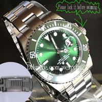 fio digital venda por atacado-1 Cor Relógio De Luxo 40mm Rotativo Verde Cerâmica Bezel Fio De Aço Inoxidável Desenho Assista Cinta 2813 Relógio Automático Glide Fecho Da Cinta