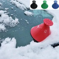 Wholesale car snow scraper resale online - New Arrival Remover Magic Shovel Cone Shaped Outdoor Winter Car Tool Snow Windshield Funnel Ice Scraper