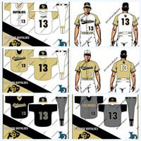 kostenlose college-logos großhandel-Colorado-Büffel NCAA-Hochschulbaseball Jersey für die Jugend der Frauen der Männer doppelt genähtes Namenszahl-Logo-hohes Quailty geben Verschiffen frei