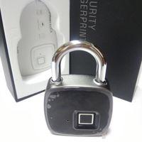 ingrosso blocco delle impronte digitali-New Smart Fingerprint Lock Lucchetto di sicurezza portatile Impermeabile antifurto Lucchetto per la borsa da golf Valigia Palestra Armadio Armadio Cassetto Porta 1 pz