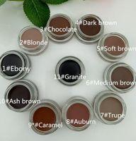 Wholesale medium makeup box for sale - Group buy Medium Brown Waterproof Makeup Eyebrow Enhancers Pomade g Blonde Chocolate Dark Brown Ebony Auburn Soft Brown TALPE with Brand Retail Box