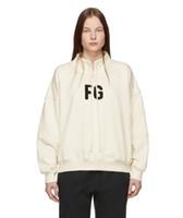 Wholesale women s high collared hoodie for sale – custom 2019 Fashion Spring Autumn Fear Of God TH Small High Collar Drawstring Skateboard Oversize Hoodie Fog Hoody Men Women Pullover Sweatshirt
