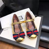 ingrosso scarpe da principessa verde-Belle ragazze principessa scarpe a forma di cuore in vera pelle GG Shoes Green e Red Sneakers Bambina Bowknot Hook Loop Shoe con scatola
