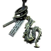 bronze bekleidungszubehör großhandel-Bekleidungszubehör Männer einstellbar lange Halskette Bronze-Legierung feilong Halskette Hersteller-Direktvertrieb