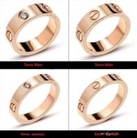 marke zubehör china großhandel-Titan Stahl Hochzeit Marke Designer Liebhaber Ring für Frauen Luxus Zirkonia Verlobungsringe Männer Schmuck Geschenke Mode-Accessoires