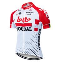 ingrosso maglia cerniera-Maglia da ciclista Team Anti UV Mesh Bicicletta Abbigliamento Full Zipper 3 Tasche posteriori 3 Aghi 5 linee Bike Jersey
