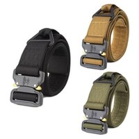 Wholesale hiking belt buckle resale online - Adjustable Nylon Military Tactical Buckle Emergency Belt Outdoor Tools Hiking Camping Equipment Quick Release EDC Belts