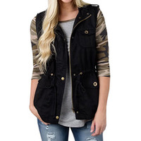 ingrosso giacca imbottita-Womens Winter Zipper Gilet senza maniche Gilet Lady Fashion trapuntato Gilet Coat Top