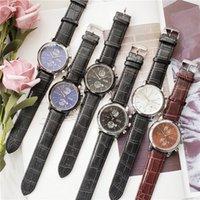 venda de cintos de couro para homem venda por atacado-Hot sale BOSS relógio Casual relógio de quartzo dos homens DZ7333 cinto de Couro Três olhos e seis agulhas modelos comuns Frete grátis