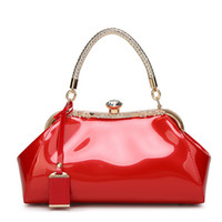 Wholesale pink backpacks chinese for sale - Group buy Beauty2019 Leather Patent Light Noodles Woman Bride Marry High Archives Atmosphere Handbag Women s Single Shoulder Span Package