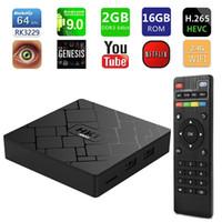 leitor de mini tv box venda por atacado-(EU IMPOSTO LIVRE) Genuine HK1 MINI Android 9.0 Caixa de Smart TV 2 GB 16 GB RK3229 2.4 G WiFi Media Player Set-top box