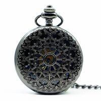 relógios de bolso de estilo antigo venda por atacado-Moda Casual Antique Vintage Aranha Mecânica Pocket Watch Web com pingente Steampunk Estilo Relógios PJX1239