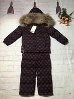 коричневое детское пальто оптовых-2019 новорожденный мальчик одежда коричневое пальто хлопок с длинным рукавом комбинезоны малыш мальчик бренд одежда повседневная Детская одежда наборы девочка одежда