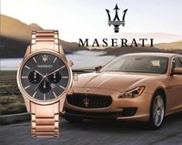 Wholesale usa clocks for sale - Group buy Italy USA Mens Sport Wrist Watch maserati Full Stainless Steel Quartz Movement Gift Time Clock Wacth Relojes Hombre Horloge Orologio Uomo