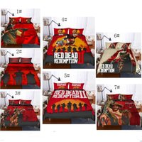 Wholesale king size bedding sets animals for sale - 3D Red Dead Redemption Design Bedding Set PC PC Duvet Cover Set Of Quilt Cover Pillowcase Twin Full Queen King Size AU US GB Covers